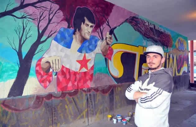 Mural posve en draganu nikoli u oslikan je u bijeljini ali for Mural u vukovarskoj ulici